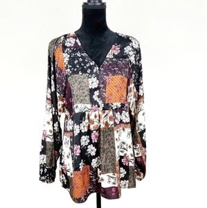 STYLE & CO Boho Floral Peasant Top